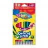 Kredki ołówkowe heksagonalne - wymazywalne, 12 kolorów (87492PTR)